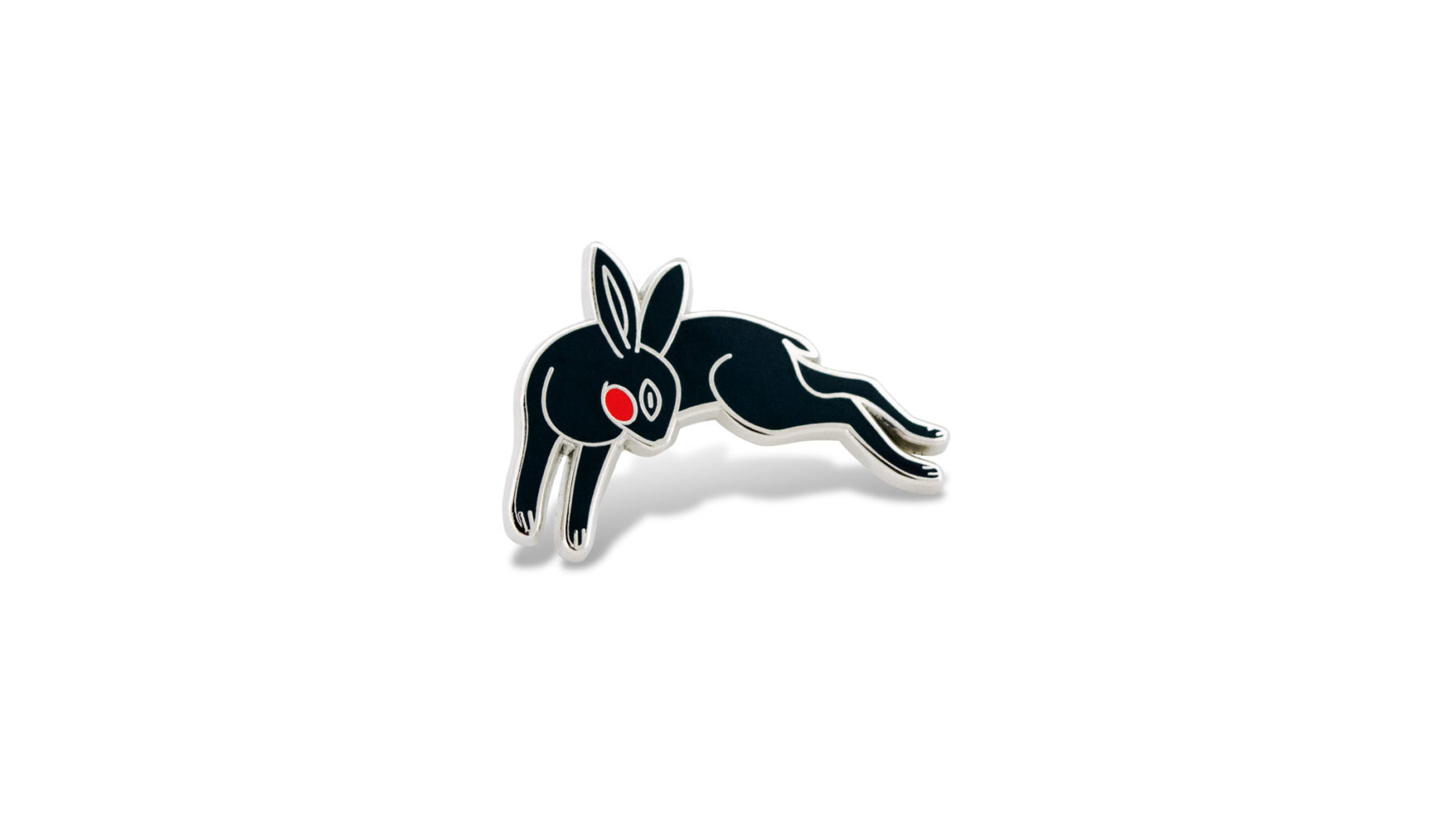Black rabbit pins.